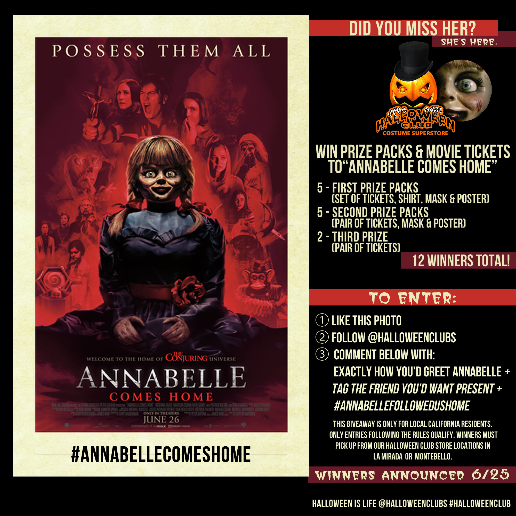 Annabelle Comes Home Movie Giveaway