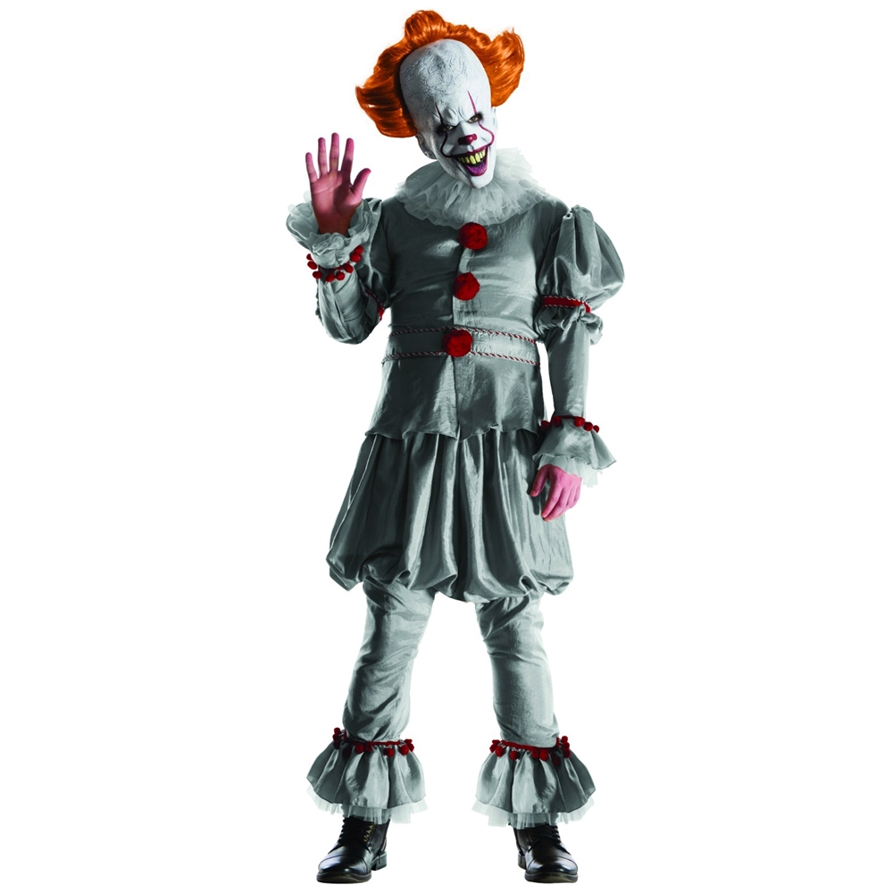 IT the Movie Pennywise Grand Heritage Adult Mens Costume 397182  sc 1 st  Halloween Club & 6 Killer Clown Costume Pieces To Trigger Mass Hysteria - Halloween ...