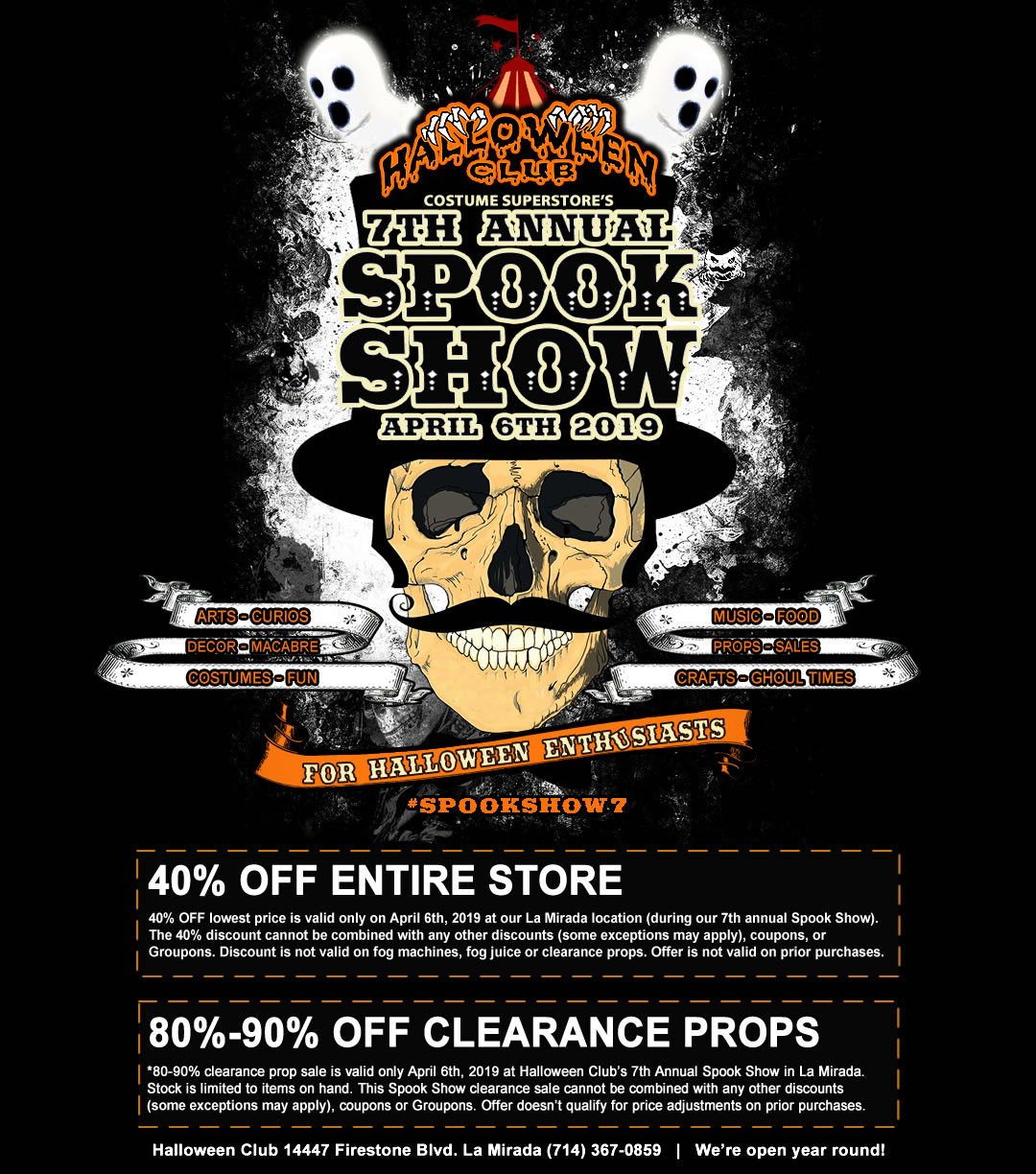 Spook Show 7 Halloween Club Sale