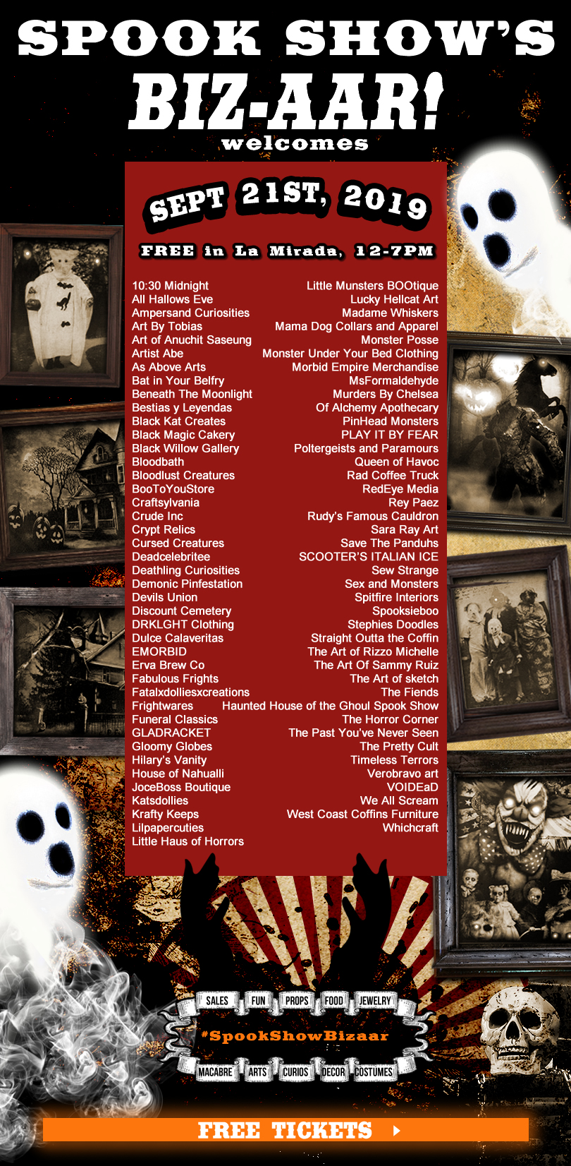 Spook Show's Biz-aar! Confirmed vendors